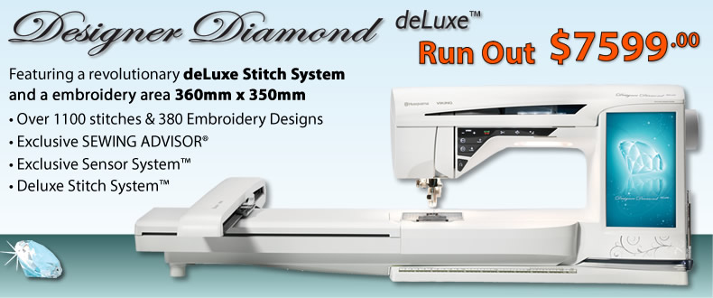 Husqvarna Viking Designer Diamond Deluxe Run Out